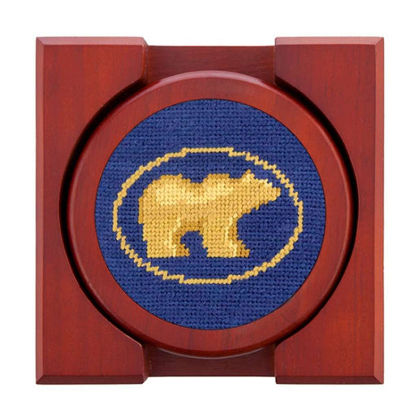 Smathers and Branson Jack Nicklaus Golden Bear Needlepoint Coaster Set by Smathers & Branson