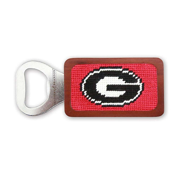 Smathers & Branson University of Georgia Needlepoint Bottle Opener in Red