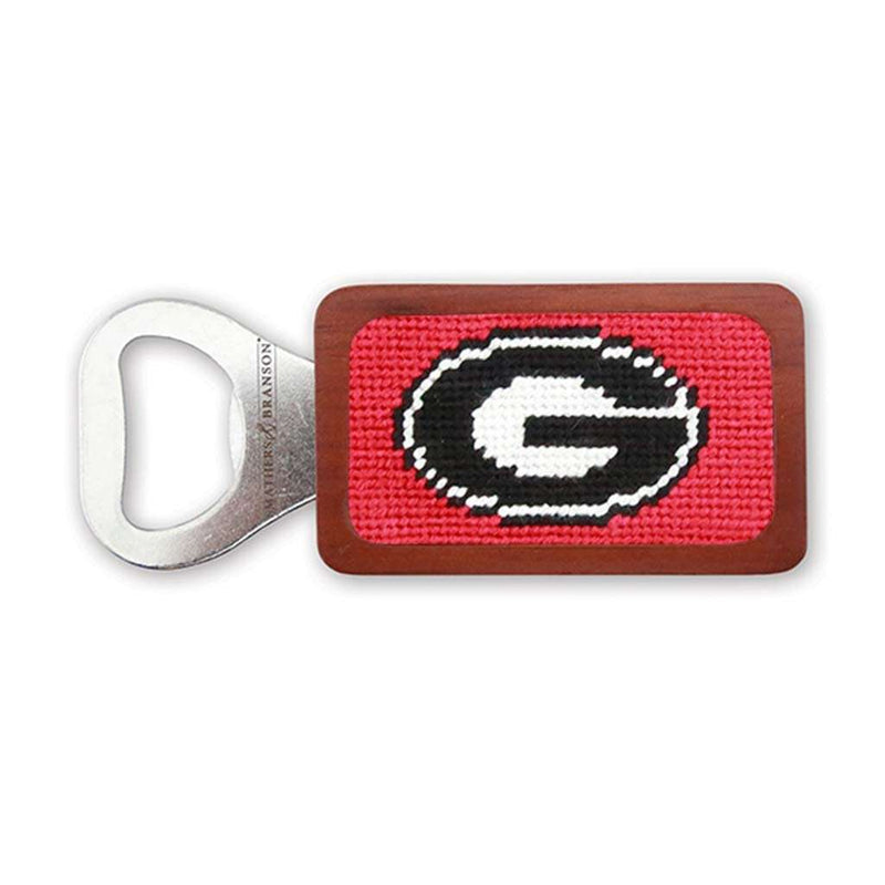 University of Georgia Needlepoint Bottle Opener in Red by Smathers & Branson