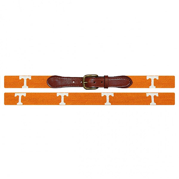 Tennessee Power T Needlepoint Belt by Smathers & Branson