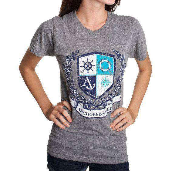 Ivy Crest Shirt in Athletic Grey by Anchored Style  - 1