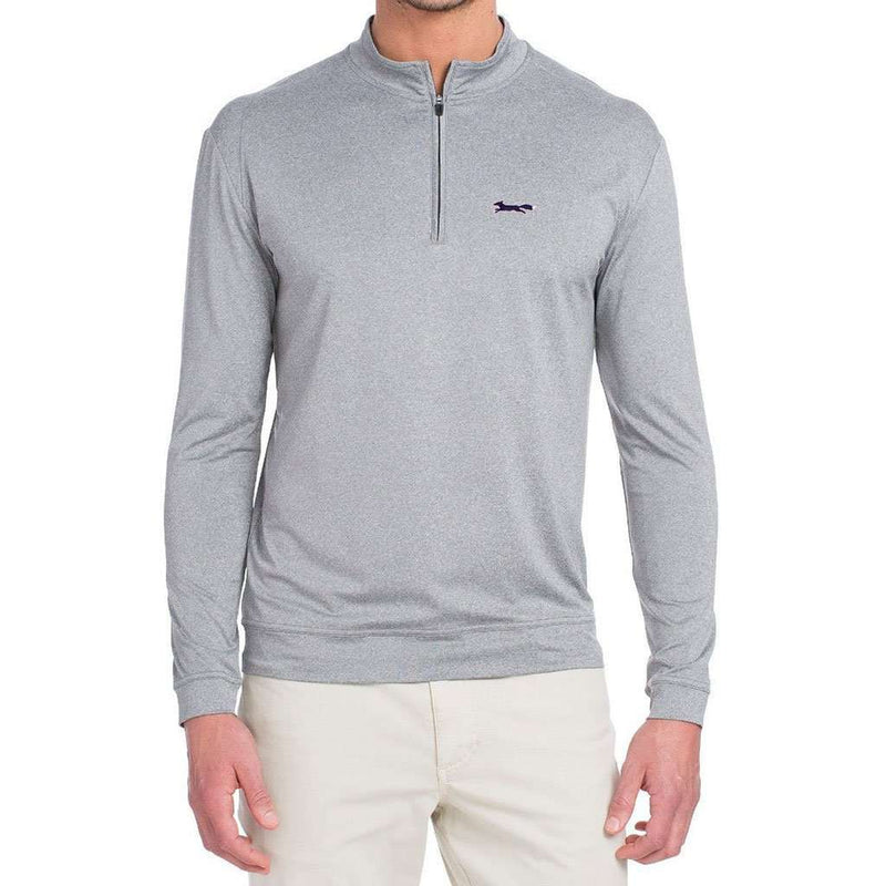 Longshanks Flex Prep-Formance 1/4 Zip Pullover in Meteor by Johnnie-O