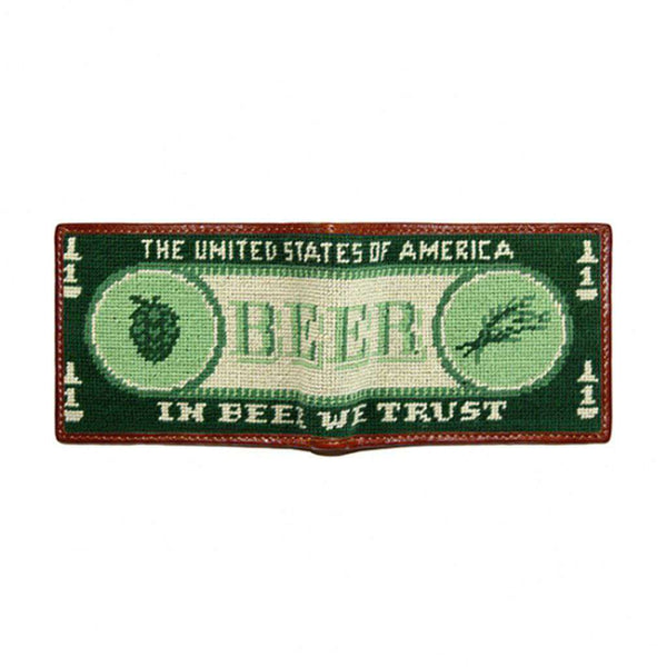 Smathers & Branson Beer Money Needlepoint Wallet