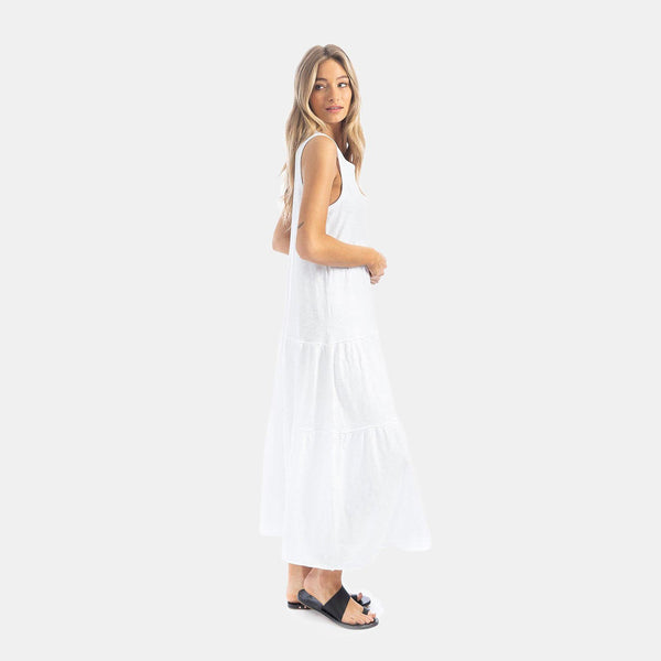 Slub Cotton Tiered Crew Dress by True Grit (Dylan)