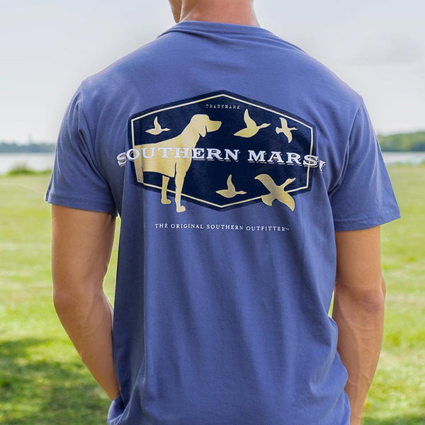 Branding Collection - Hunting Dog Tee in Bluestone by Southern Marsh