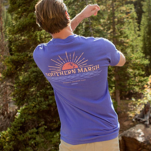 Branding Collection Tee - Sunset in Indigo by Southern Marsh