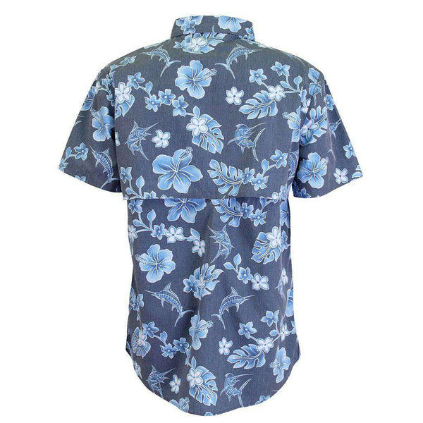 AFTCO Boatbar Short Sleeve Tech Shirt in Navy