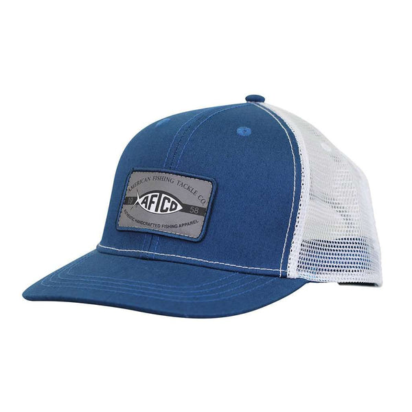 AFTCO Patch Trucker Hat in Blue Steel