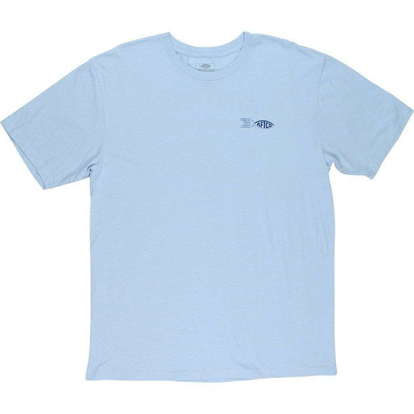 AFTCO Analogue Short Sleeve T-Shirt bluesteel heather