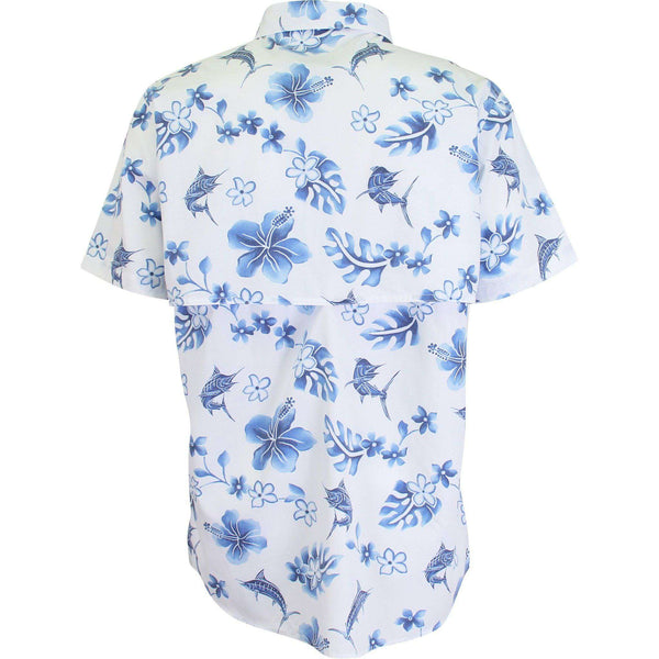 Boatbar Short Sleeve Tech Shirt in Blue by AFTCO