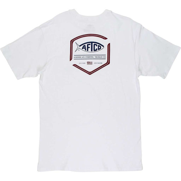 AFTCO Flipper Short Sleeve T-Shirt white