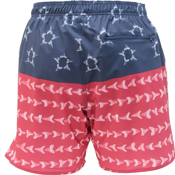 AFTCO Megaladon Swim Trunks in Red