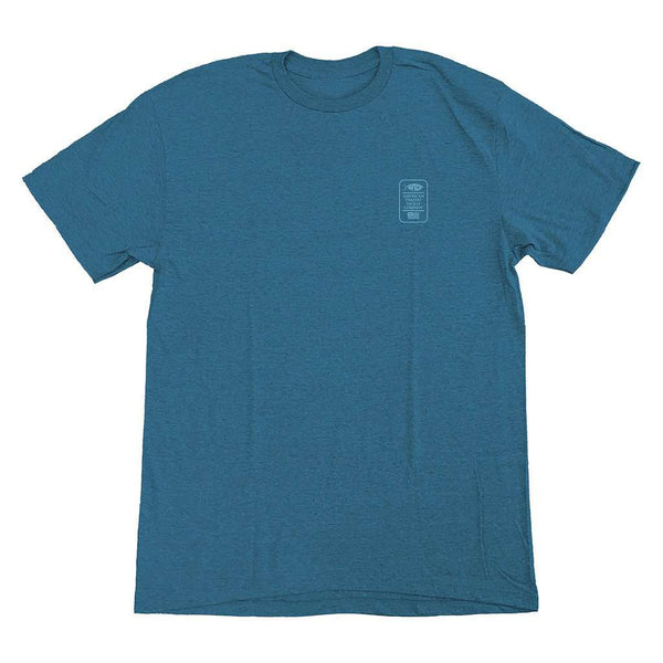 AFTCO School Short Sleeve T-Shirt cyan heather