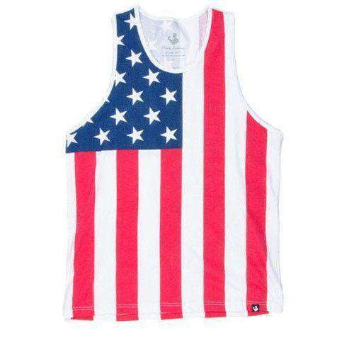 American Flag Tank Top in Red, White and Blue by Rowdy Gentleman  - 1