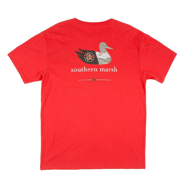 Authentic Georgia Heritage Tee in Red by Southern Marsh