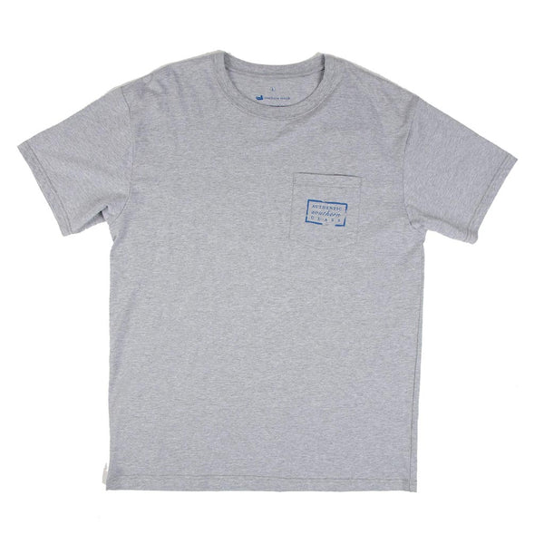 Authentic South Carolina Heritage Tee in Light Gray by Southern Marsh