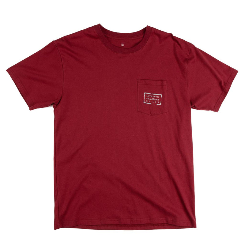 Authentic South Carolina Heritage Tee in Maroon by Southern Marsh