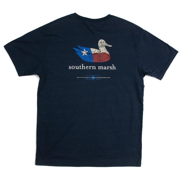 Authentic Texas Heritage Tee in Navy by Southern Marsh