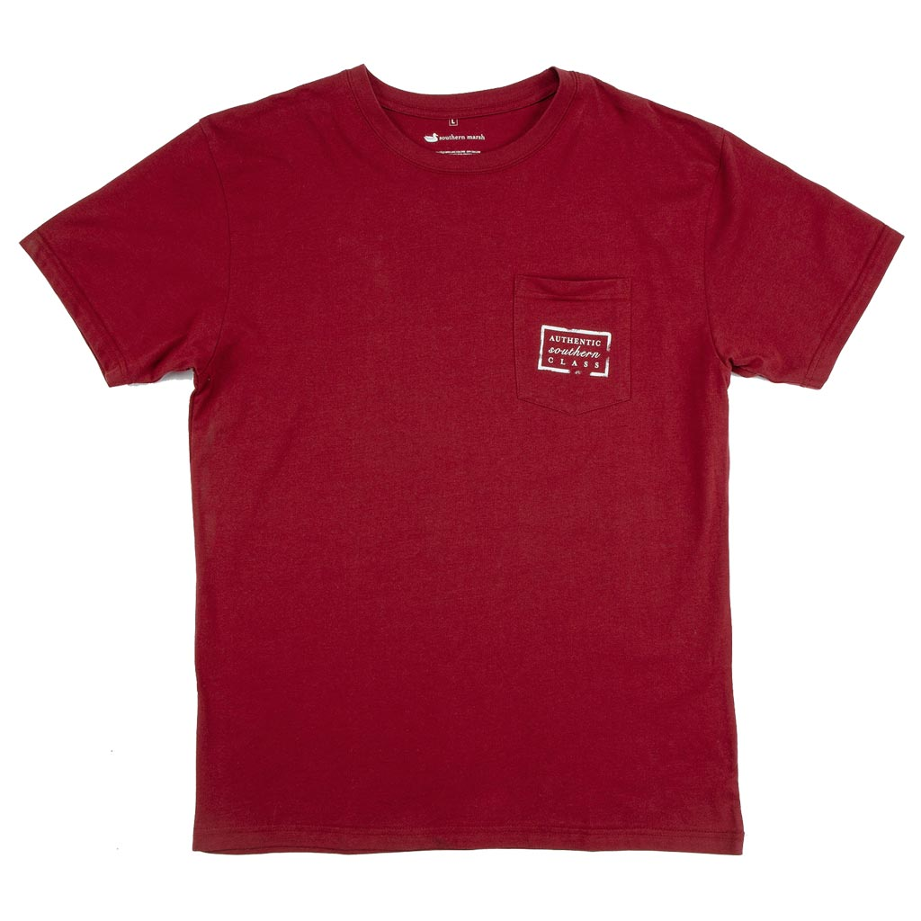Collegiate Authentic Tee in Maroon with Black Duck by Southern Marsh  - 2