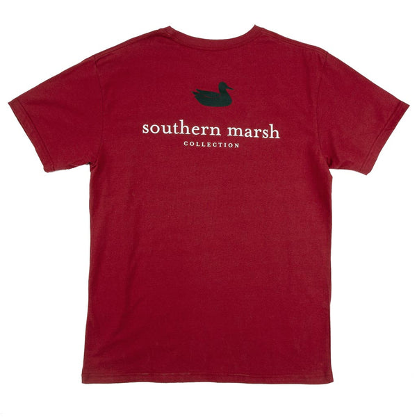 Collegiate Authentic Tee in Maroon with Black Duck by Southern Marsh  - 1
