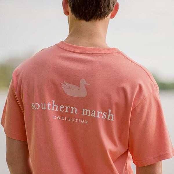 The Authentic Vibrant Tee in Azalea by Southern Marsh