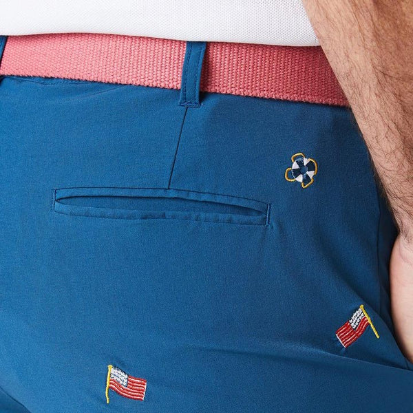 ACKformance Short with USA Flag in Abyss Blue by Castaway Clothing