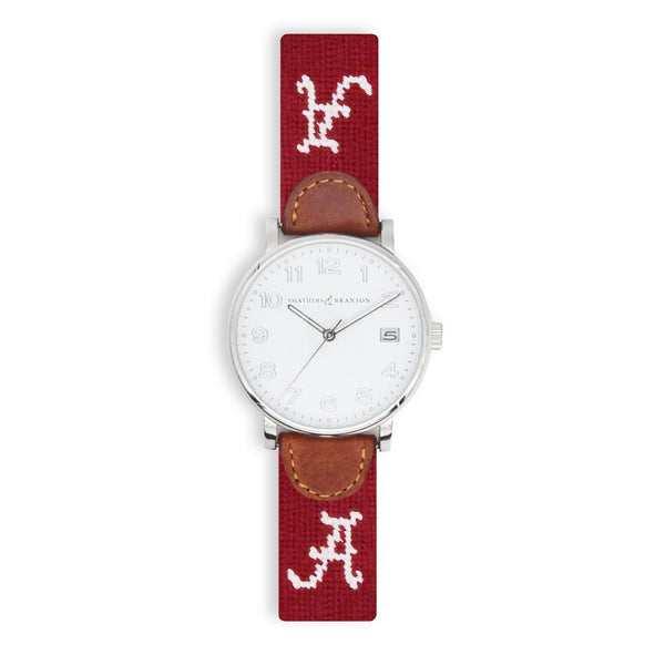 University of Alabama Needlepoint Watch by Smathers & Branson