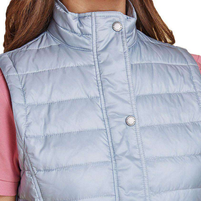 Alasdiar Quilted Gilet in Ice Blue by Barbour  - 4