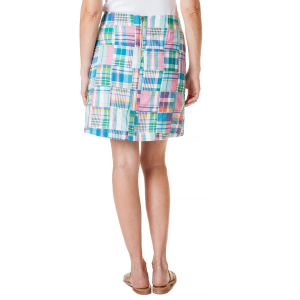 Ali Skirt in Chatham Patch Madras by Castaway Clothing