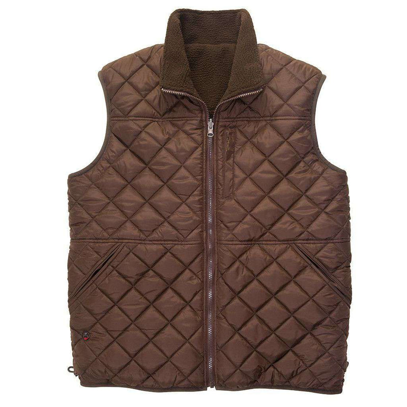 All Prep Reversible Vest in Mulch by Southern Proper - FINAL SALE