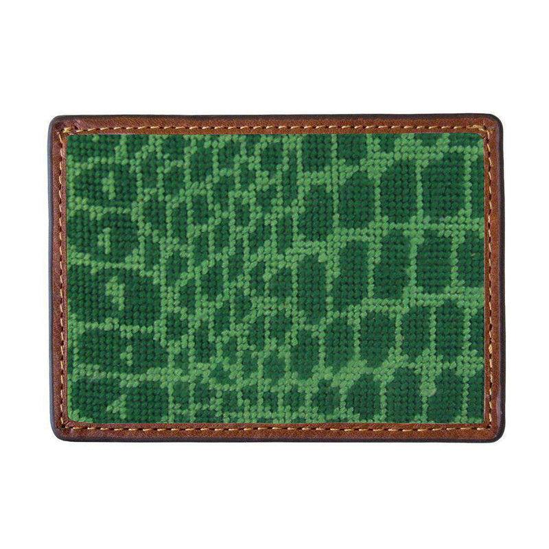 Alligator Skin Needlepoint Credit Card Wallet by Smathers & Branson