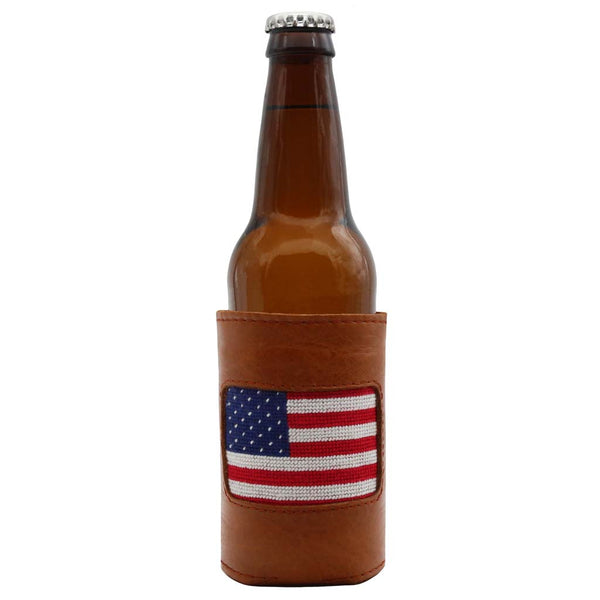American Flag Needlepoint Bottle Cooler by Smathers & Branson