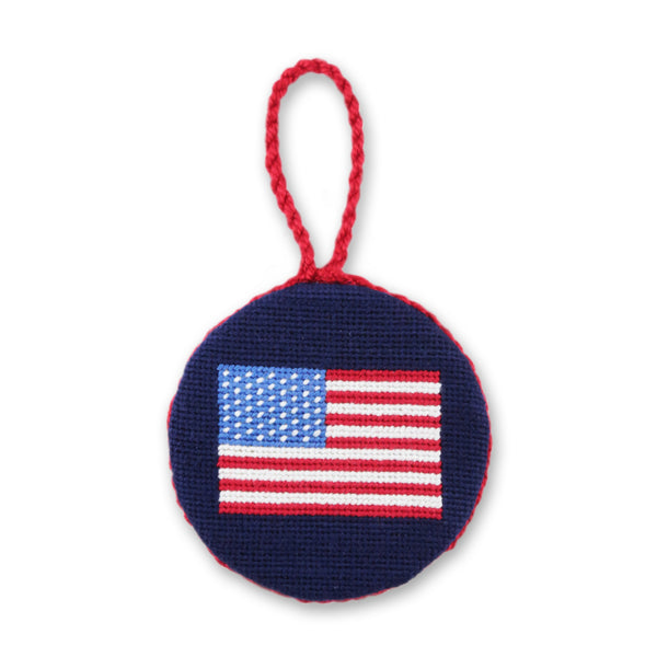 American Flag Needlepoint Ornament by Smathers & Branson