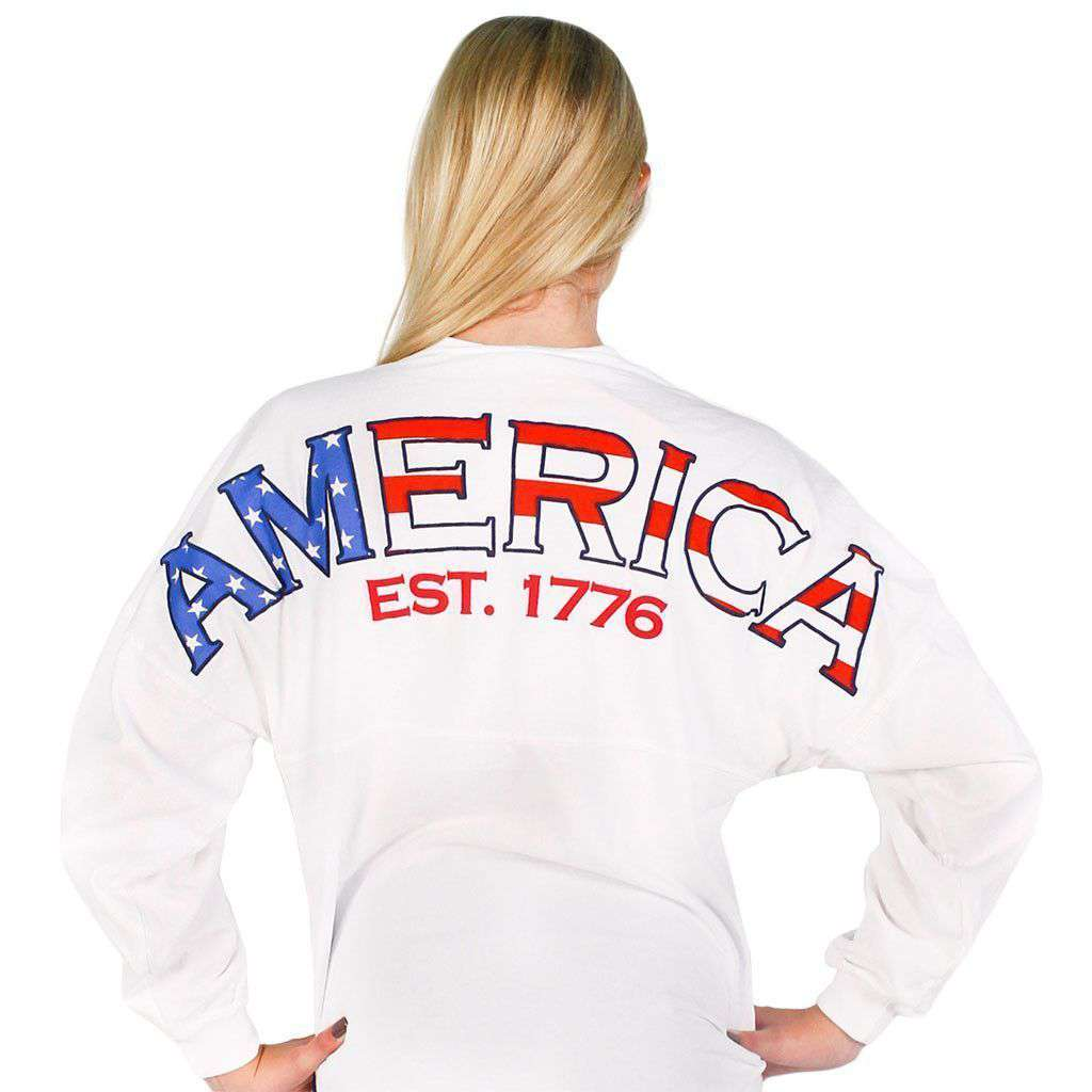 American Prep Spirit Jersey in White by Full Time American  - 1