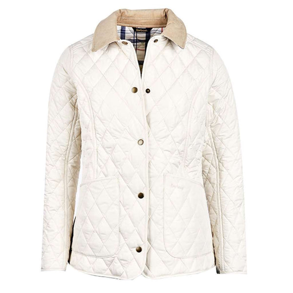 f593cfb0dd88 ... Spring Annandale Quilted Jacket in Pearl by Barbour - Country Club Prep