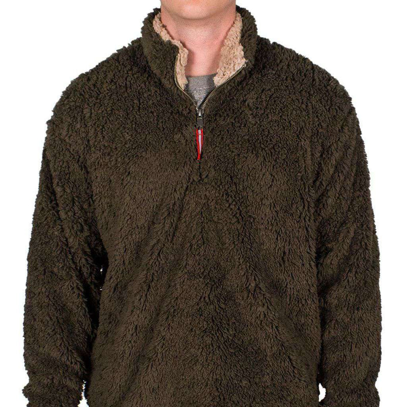 Appalachian Pile Pullover 1/4 Zip in Stone Brown by Southern Marsh  - 2