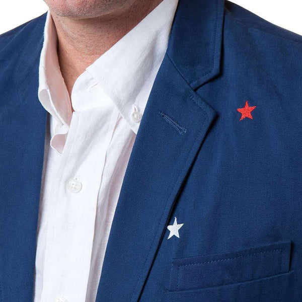 Spinnaker Blazer with Red & White Stars by Castaway Clothing