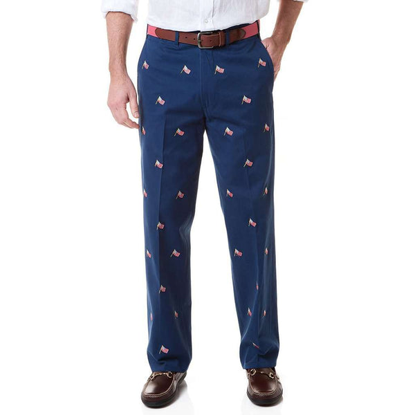 ff2e378d Castaway Clothing Harbor Pant with Embroidered USA Flags by Castaway  Clothing Country Club Prep Atlantic / 32 x UF