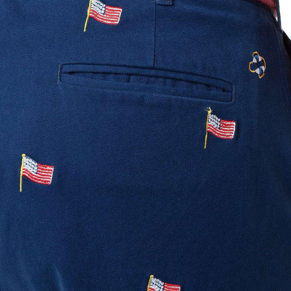 Castaway Clothing Harbor Pant with Embroidered USA Flags by Castaway Clothing