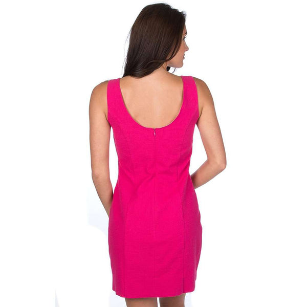 Lauren James The Avery Solid Seersucker Dress in Raspberry by Lauren James