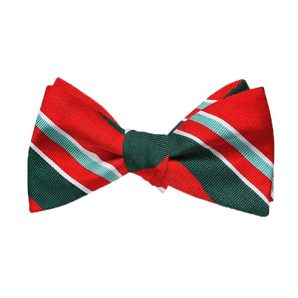 Bird Dog Bay Wayfair Stripe Bow Tie in Red & Green