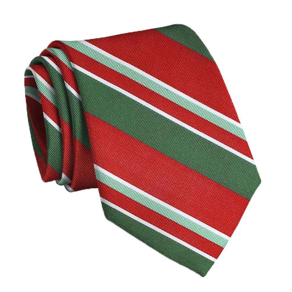 Wayfair Stripe Neck Tie in Red & Green by Bird Dog Bay