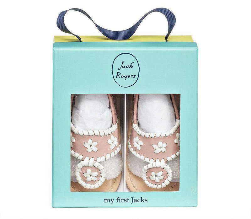 Baby Jacks in Blush / White by Jack Rogers - FINAL SALE