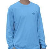 Long Sleeve Angler Tee in Blue by Anchored Style  - 2
