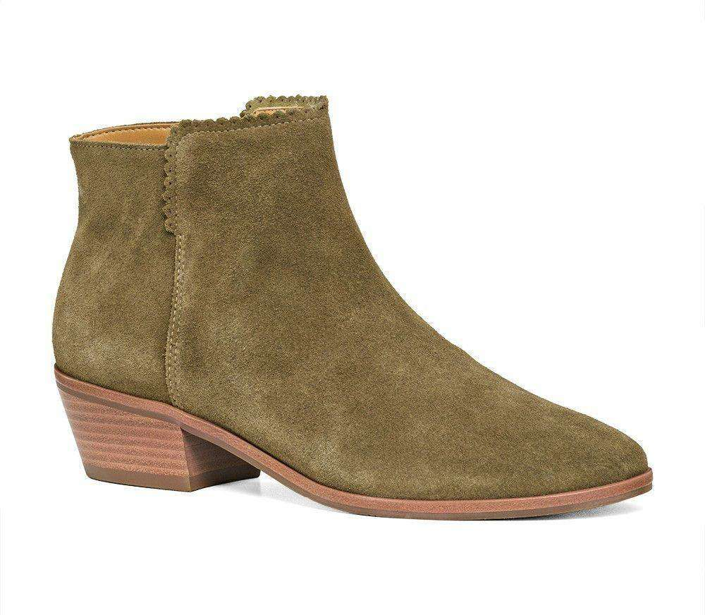 Bailee Suede Booties in Olive by Jack Rogers