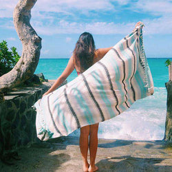 Sand Cloud Mint Baja Towel by Sand Cloud