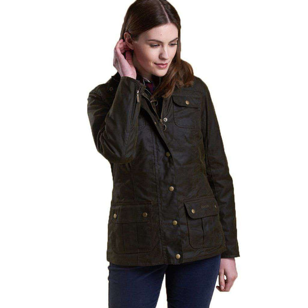 Ashley Wax Jacket in Olive by Barbour - FINAL SALE