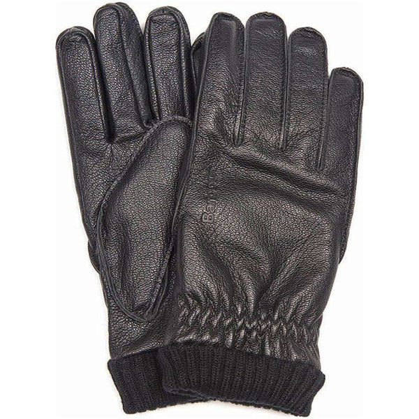 Barbour Barrow Leather Gloves in Black