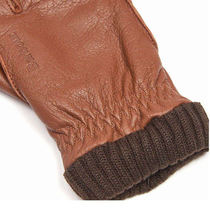 Barrow Leather Gloves in Tan by Barbour - FINAL SALE