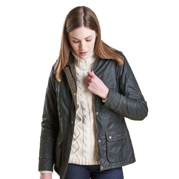 Castlebay Wax Jacket in Sage by Barbour - FINAL SALE